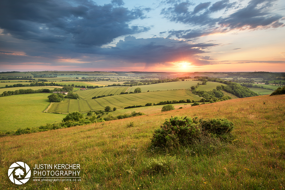 Sunset from Butser Hill
